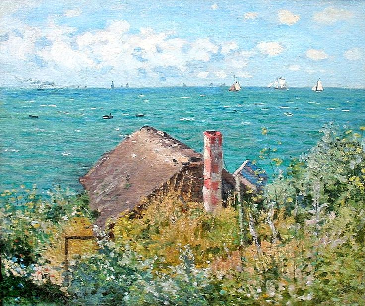 The Cabin at Saint-Adresse by @claude_monet #impressionism