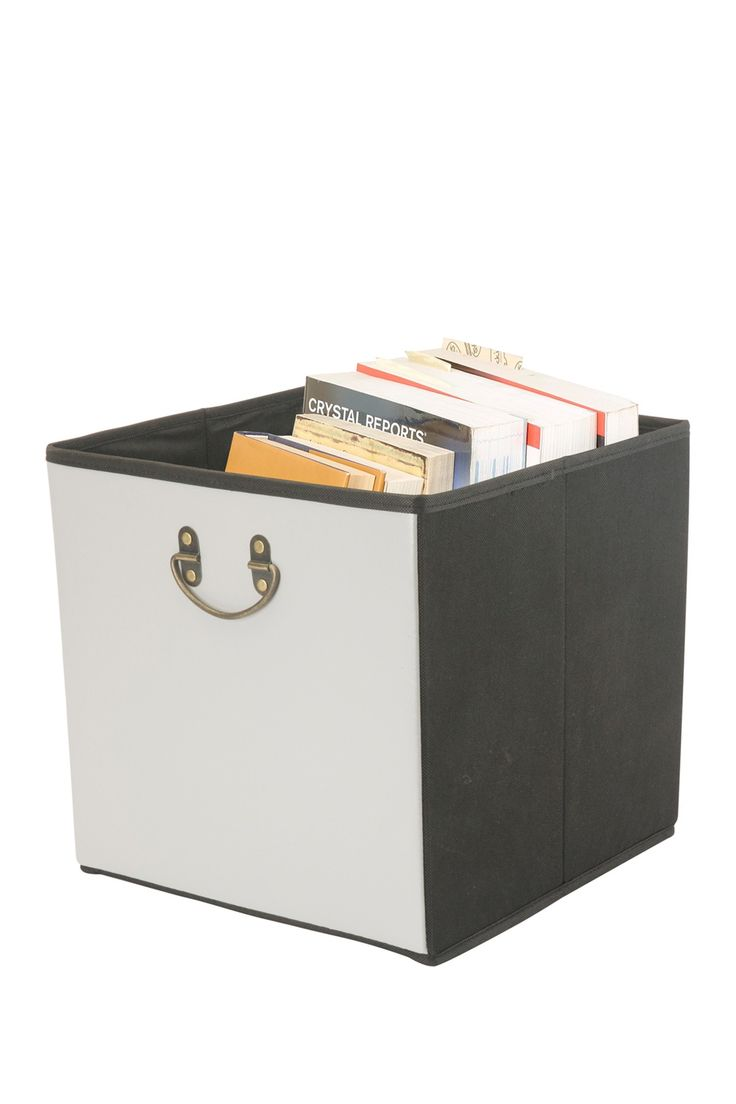 Kennedy International Inc. Simplify Faux Leather Collapsible Storage Cube - Grey