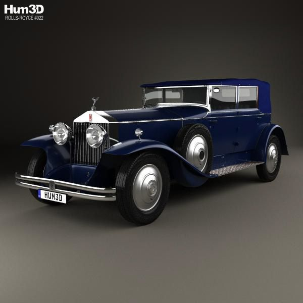 Rolls-Royce Phantom I 1929 3d model from Hum3d.com.