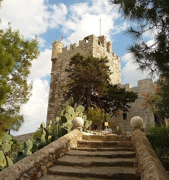 Bodrum Castle steps