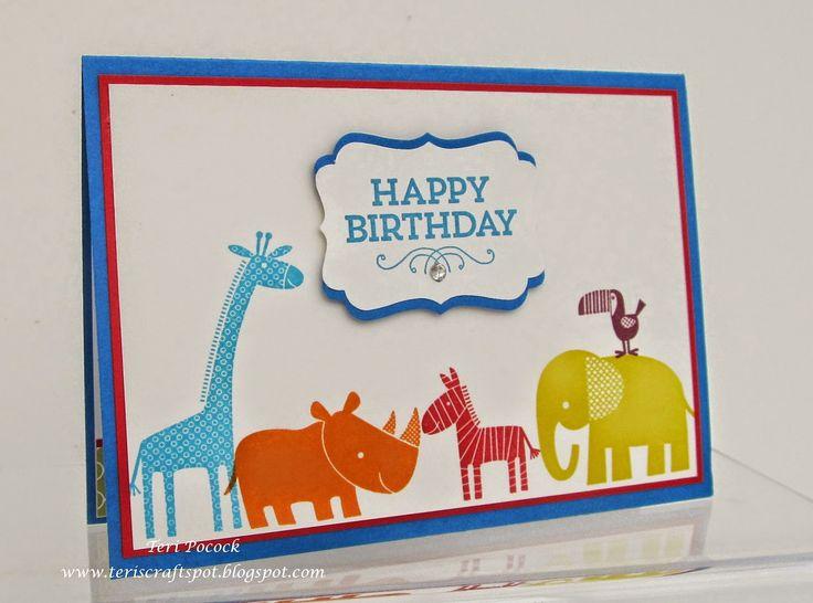 Stampin' Up! - Zoo Babies - Teri Pocock - http://teriscraftspot.blogspot.co.uk/2015/04/zoo-babies-birthday-card.html