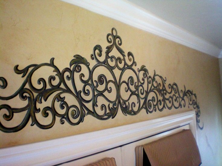 Painted Wrought Iron Over French Doors Maybe A Smaller Version Above The Pantry Door