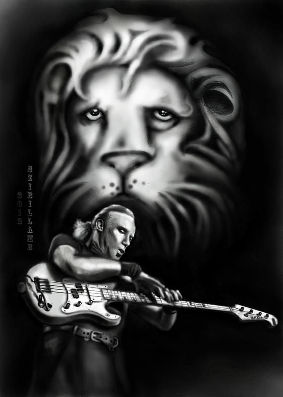 my hand-drawing tribute to the maestro & his talent. Billy, thank you for the music, that inspires many.... As a bass playing&singing girl, i really dig his style of bass playing... Hope yall like my drawing. Bigger resolution @ http://www.flickr.com/photos/sibyllblues/7154116029/ #billysheehan #bass