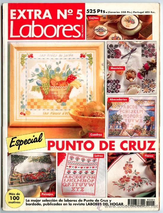 Revista *LABORES DEL HOGAR - EXTRA Nº 5 · Especial PUNTO DE CRUZ* -- Más de 100 motivos -- Gráficos