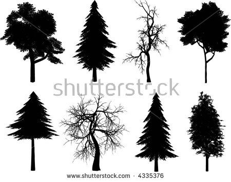 Tree silhouettes - vector
