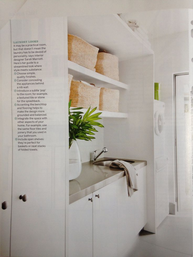 Laundry (Australian House & Garden August 2012, pg 208)