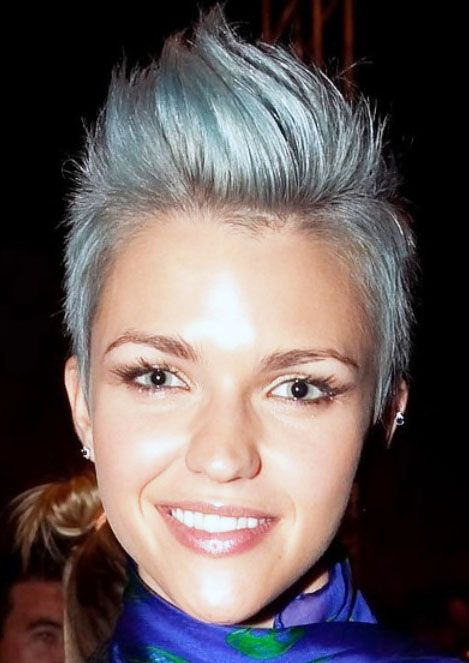 Short Faux Hawk Hairstyle for women 2014 photos Perfect length and shape
