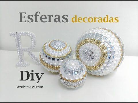 Como hacer esferas decorativas con Glamour de  porexpam