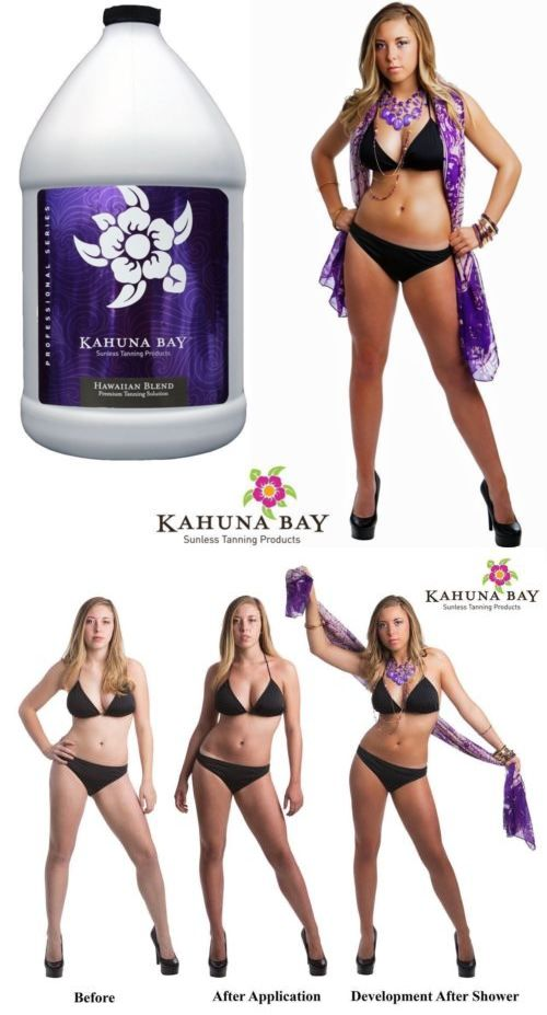Other Sun Protection and Tanning: Kahuna Bay Tan Hawaiian Blend Sunless Airbrush Spray Tan Solution, 128 Oz Gallon -> BUY IT NOW ONLY: $99.99 on eBay!