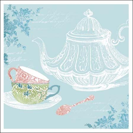 62 best national trust cards from woodmansterne images on pinterest pretty pastel greeting card featuring design of teacups and teapot using wallpapers from national trust m4hsunfo