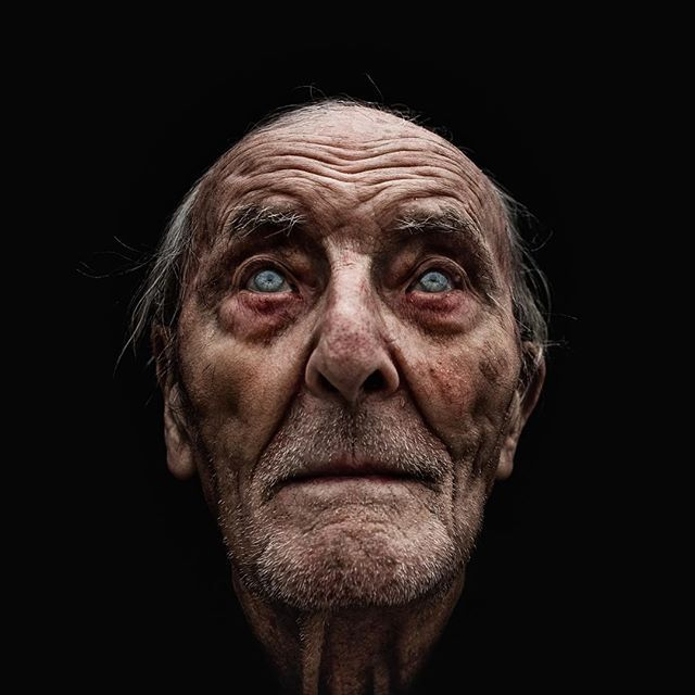 Lee Jeffries takes portraits of homeless people he has met in USA. Stunning - this one must have had lighting from above but also very soft side lighting