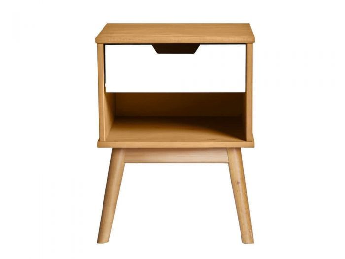 Table De Chevet Scandinave En Bois Blanc Avec Tiroir Fifties Home Decor Decor Furniture