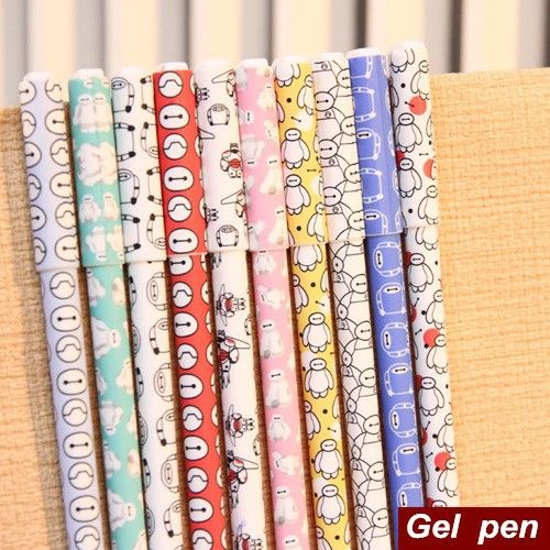 10 color/Lot Baymax gel pens Big hero 6 ballpoint pen gift canetas material escolar kawaii stationery school supplies 6522-in Gel Pens from Office & School Supplies on Aliexpress.com   Alibaba Group