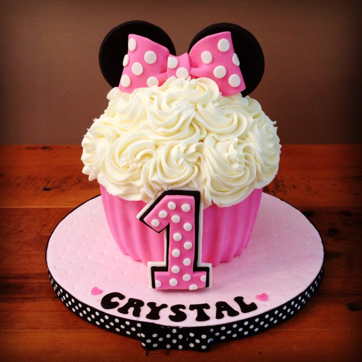 Minnie Mouse Smash Cake - Giant Cupcake Pan