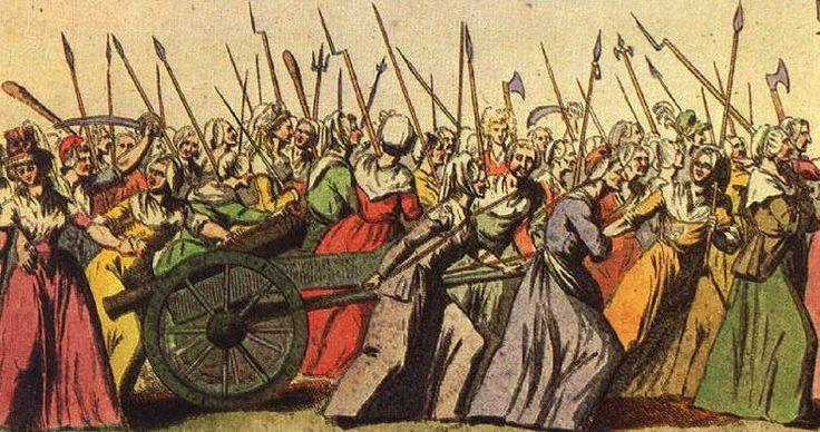 [XIII] 1789. La marcha sobre Versalles que realizaron alrededor de 6.000 parisinas el 5 y 6 de octubre en busca del rey y la reina fue un detonante revolucionario. Las mujeres consiguieron el traslado de ambos a París. Poco después, se presentó una petición de las damas dirigidas a la Asamblea Nacional que denunciaba la 'aristocracia masculina' y en ella se proponía la abolición de los privilegios del sexo masculino, tal cual se estaba haciendo con los privilegios de los nobles sobre el…