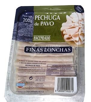 Pechuga de pavo Hacendado (Mercadona) -  4 uds. 1 p