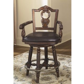 Shop for Signature Design by Ashley 'North Shore' Dark Brown Upholstered Swivel Barstool. Get free shipping at Overstock.com - Your Online Furniture Outlet Store! Get 5% in rewards with Club O!