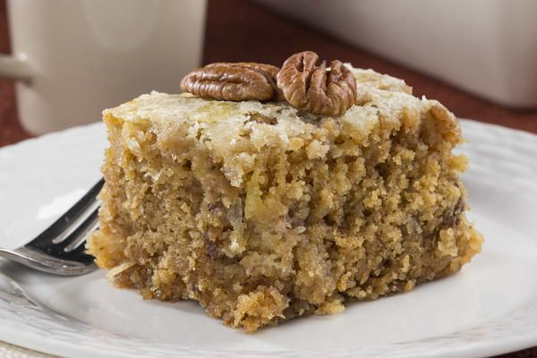 Graham Cracker Cake 9x13 with NO FLOUR with Coconut, Pecans & Crushed Pineapple. | MrFood.com
