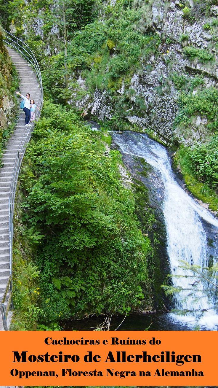 Roteiro para as fantásticas ruínas do Mosteiro de Allerheiligen e suas cachoeiras, no distrito de Lierbach na região de Oppenau, Floresta Negra na Alemanha.