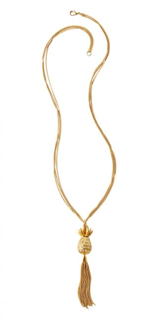 Lilly Pulitzer Pineapple Necklace @thepinkpelican