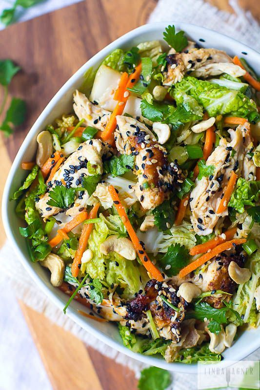 Healthy Paleo Chinese Chicken Salad #lowcarb #paleo and a great #healthyrecipe for summer weight loss!!