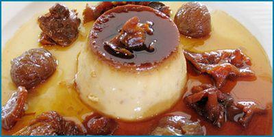 Flan de castañas de Galicia