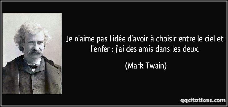 les 25 meilleures id es de la cat gorie citations de mark twain sur pinterest mark twain la. Black Bedroom Furniture Sets. Home Design Ideas