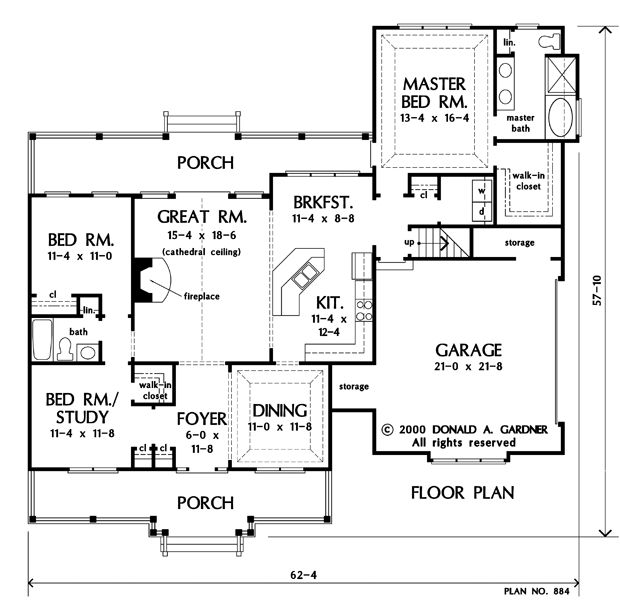 13 best images about don gardner hazlwood on pinterest for One level house plans with bonus room