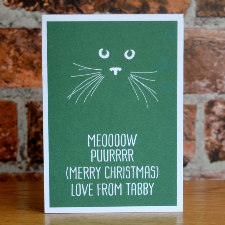 From The Cat Personalised Christmas Card