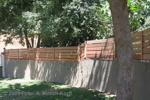 Modern Horizontal Wood Fence Amp Gate Wall Terrain