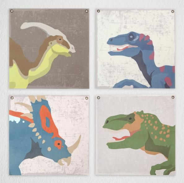 Dinosaur felt wall decor for kids by Designvonal. Designed and made with love in our downtown workshop in Budapest, Hungary.  http://dvshop.hu/hu/akcio/csomag/dino-filckep-szett