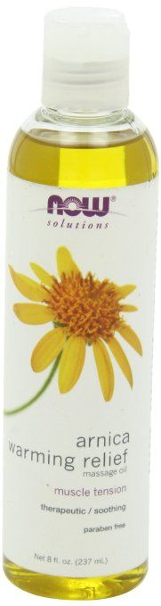 Arnica Warming Relief Massage Oil, I've been using this oil  with the Fascia Blaster (other than Ashley Blacks oil)
