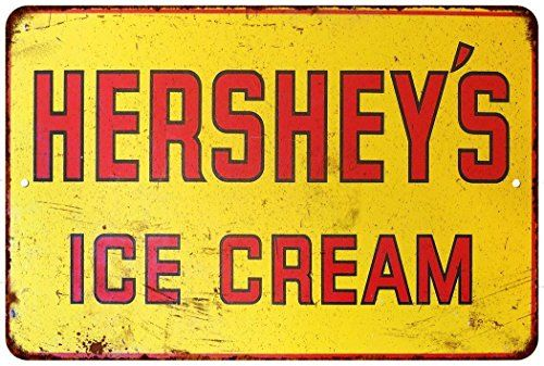Hersheys Ice Cream Vintage Look Reproduction Metal Sign 8 x 12 8120388 -- To view further for this item, visit the image link.