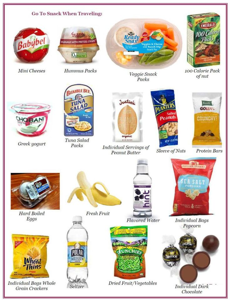 {Good to remember for Emma, who has such a sensitive stomach,  especially with fast food} Snacks: Healthy Travel Snacks..those minni cheeses are SO good!!!