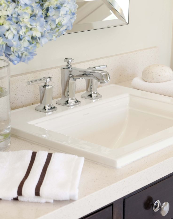 White Porcelain Sinks From Kohler Blend With Silestone