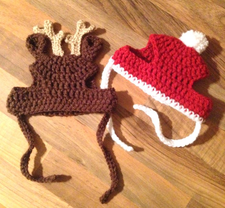 Crochet Pattern - PDF Download // Cat or Small Dog Christmas Beanie Hats by 9Worlds on Etsy https://www.etsy.com/listing/209876750/crochet-pattern-pdf-download-cat-or
