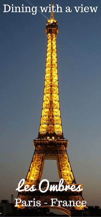 dining with eiffel tower view. dining with a view of the eiffel tower is one those \