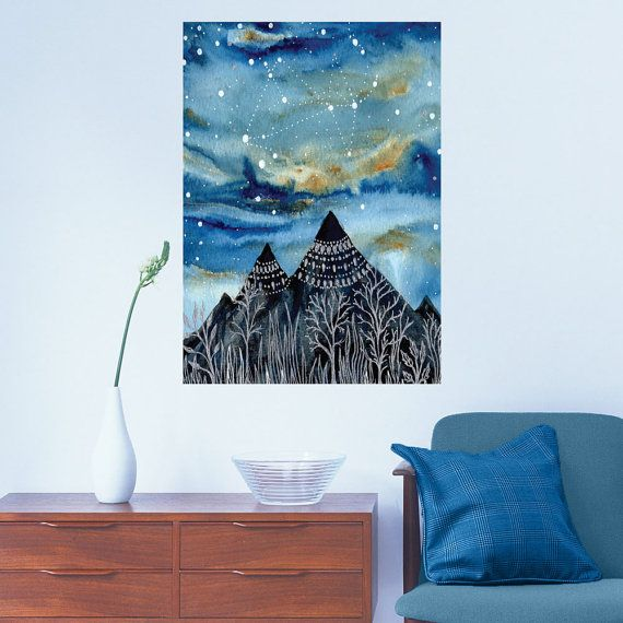 The Summer Triangle Wall Sticker - Astronomy Art by Elise Mahan on Etsy, $15.92 AUD
