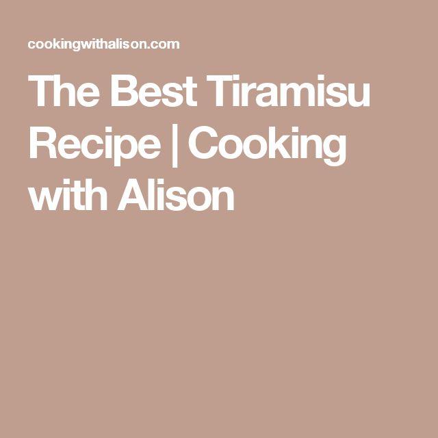 The Best Tiramisu Recipe | Cooking with Alison