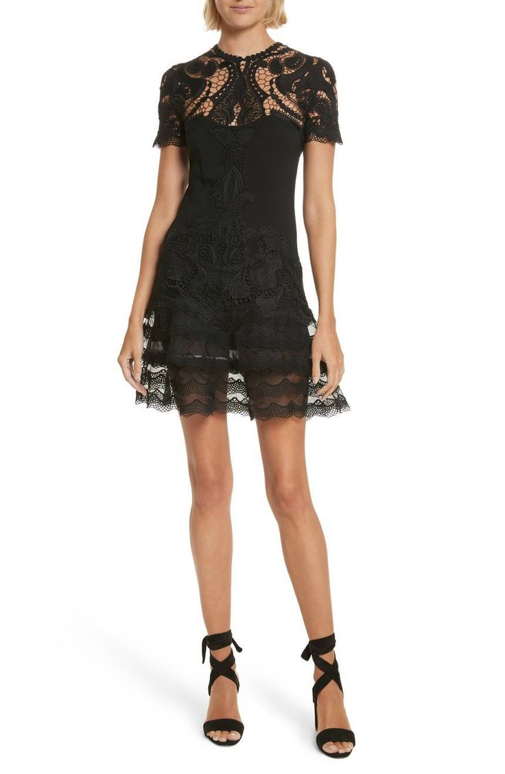 Jonathan Simkhai's version of the LBD is beautifully detailed with the designer's signature intricately wrought lace.