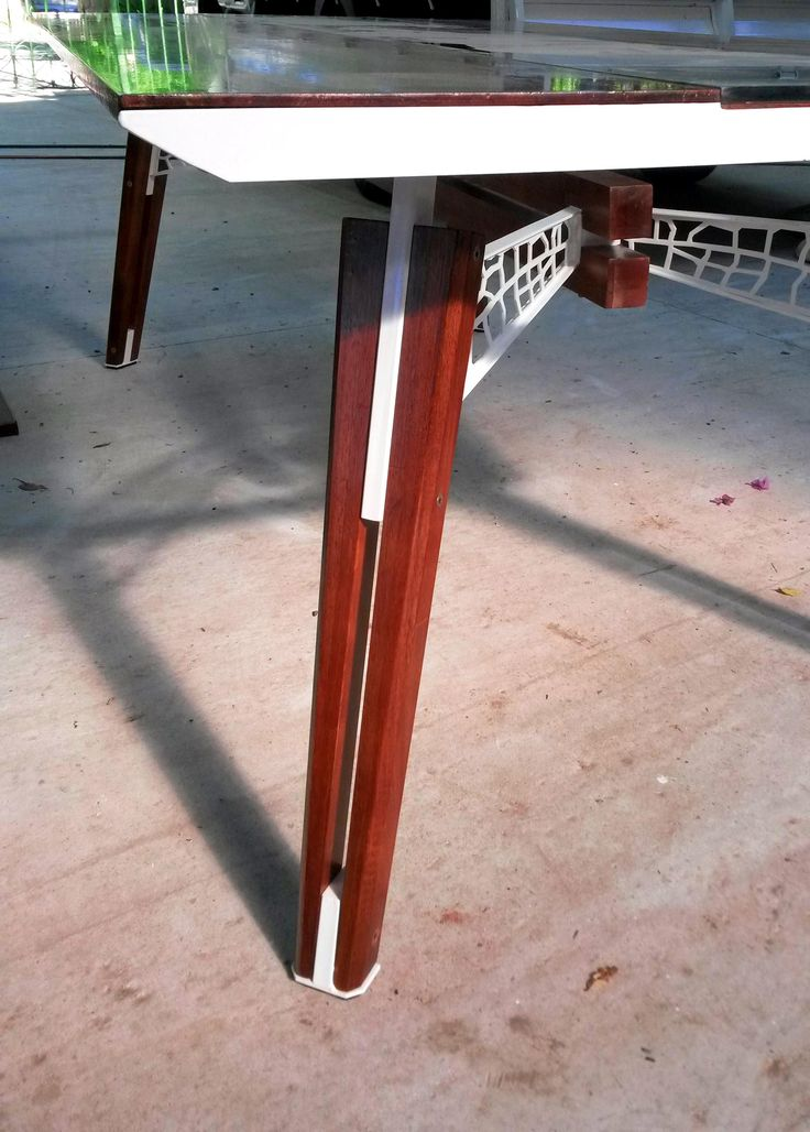 table, steel, wood and glass