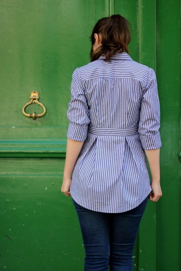 Shirt pattern from Deer & Doe; also a great men's shirt redo!