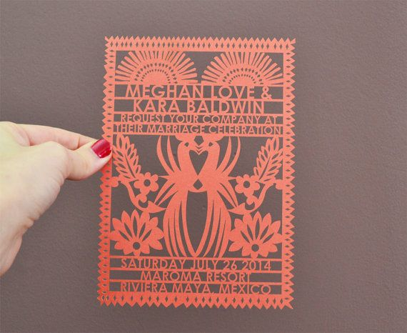Mayan Wedding Invitation Laser Cut 100 pcs