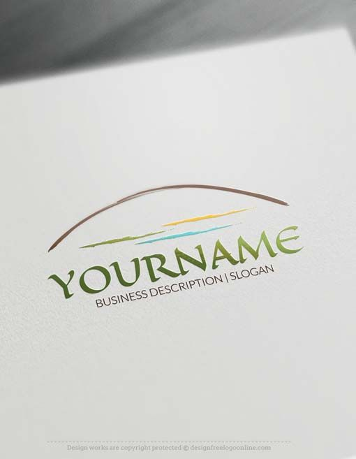 Ready Made Online Landscape Logo Designs Design online Landscape Logo Designs with arch image that looks like a Bridge, path or a hill. Design your own Landscape Logos with our logo creator. Landscape Logo Designs great for branding Gardener, Landscaping Company, a hotel with mountain views or Hills landscape. In addition, because this logo have arch image, therefore you can use it to brand a Architect,