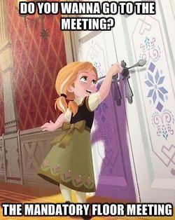 Frozen floor meeting