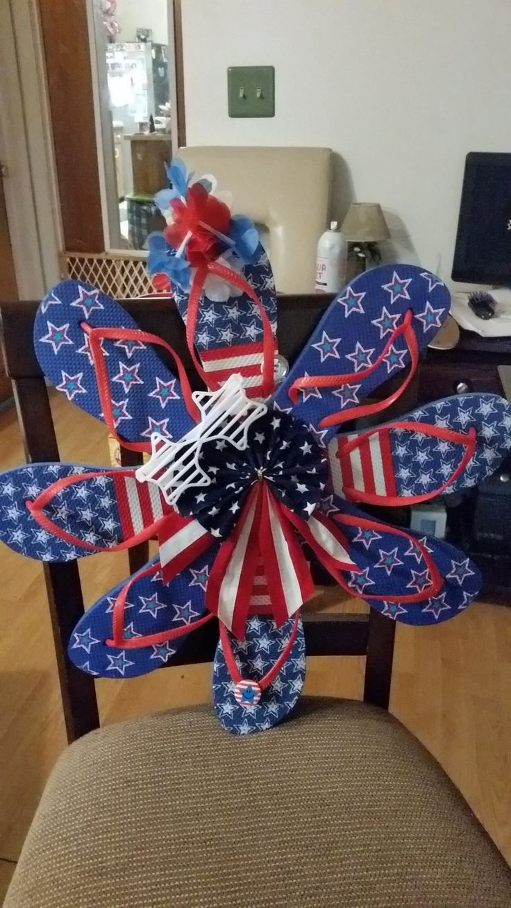 decoration crafts ideas 4 th of july flip flop wreath 20 00 crafts 1844