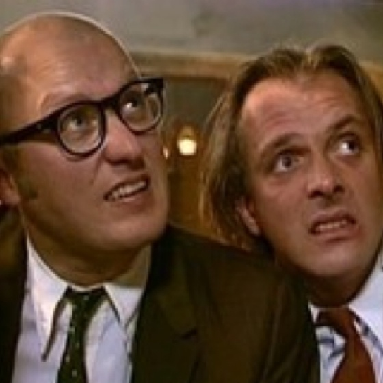 Bottom- Ade Edmondson & Rik Mayall