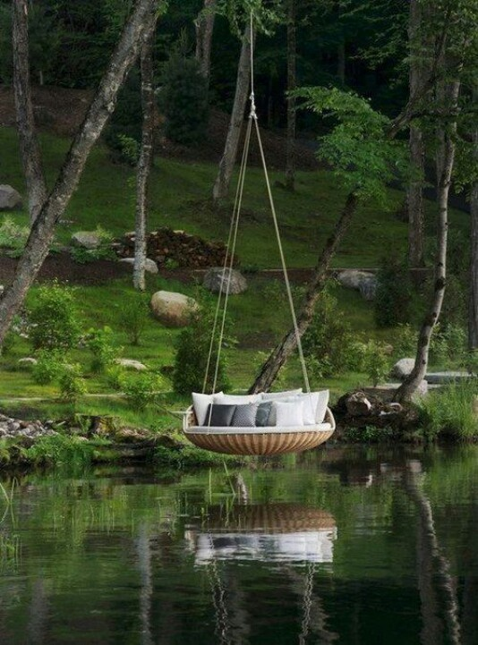Talk about a rope swing!