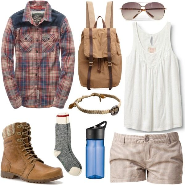 Camping by alayaya on Polyvore featuring Quiksilver, Superdry, Roxy, Caterpillar, Organic by John Patrick, Waxing Poetic, MANGO, Roots and Thermos