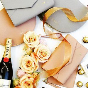 Wedding planning? Our #personalisedleather #accessories are perfect to use on your big day & they make the most #beautiful #bridesmaid #gifts💒👰🏻💗 #thenewlook_aus #thenewlook #bridetobe #engaged #wedding #weddings #weddingplanning #weddingideas #imgettingmarried #isaidyes #engagedcouple #love #weddingday #marriage #help #leather #bag #bags #fashion #handbags #monogram #monogrammedleather #giftidea #giftsforher #unique